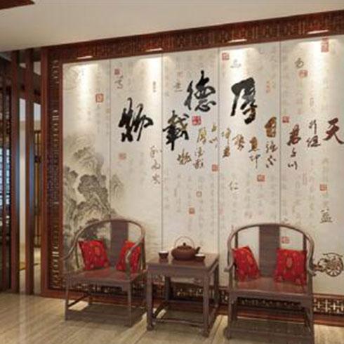 金地美集成墙板-中国风软硬包刺绣