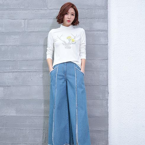 着秀女装-宽松牛仔裤