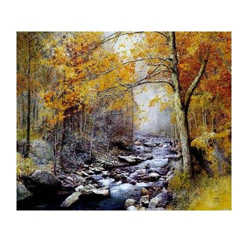 碳晶电暖画-林涧小溪