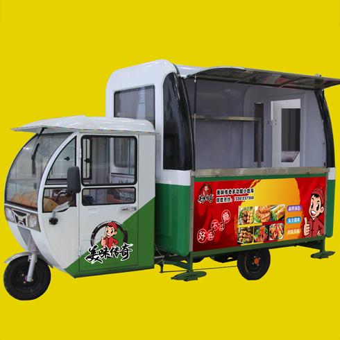 美味传奇小吃车-电动三轮餐车