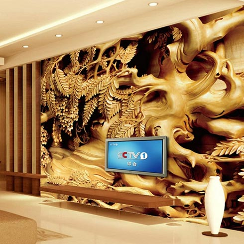 腾彩光磁琉彩一体机-3D背景墙