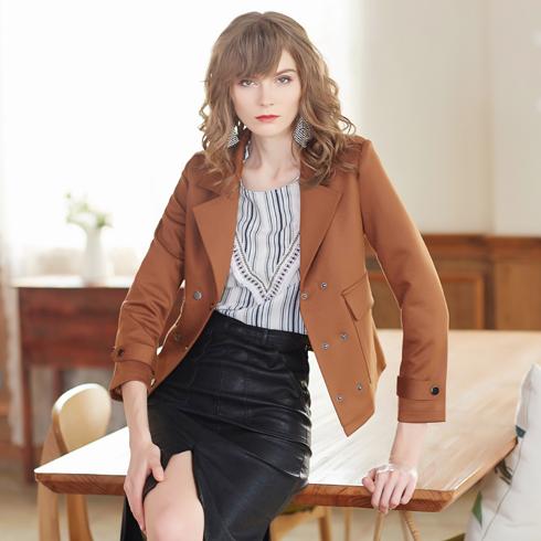 金蝶茜妮女装-西装式棕色外套