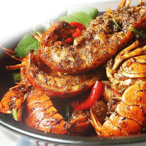 海错岛蓝魔龙虾-爆炒小龙虾