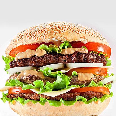 壹点壹炸鸡汉堡-三层超级汉堡