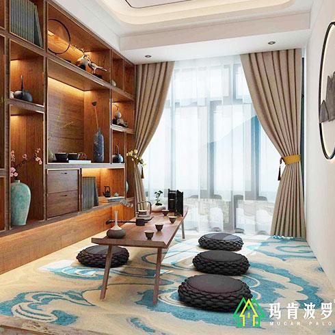 玛肯波罗集成墙饰-新中式风格房间