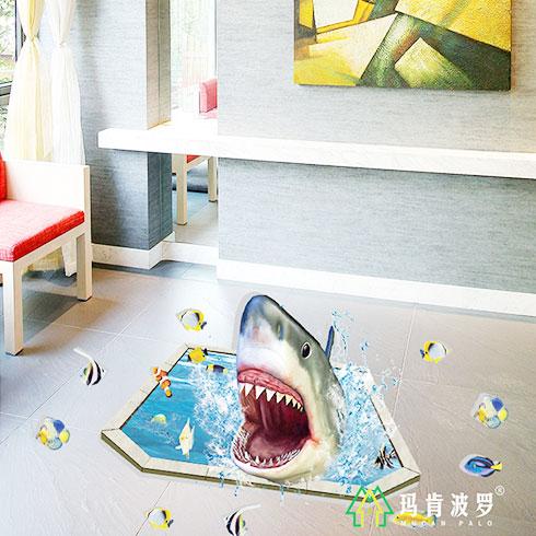 玛肯波罗集成墙饰-3D卡通地板