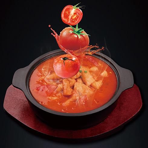 欢辣啵啵鱼快餐-迷情番茄啵啵鱼
