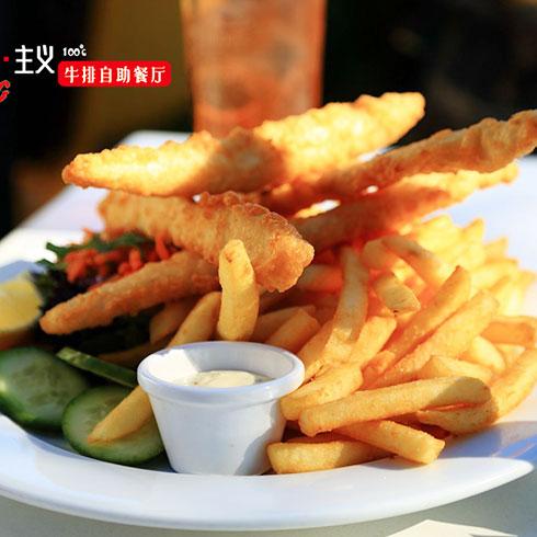 热食主义自助牛排-美式粗薯条