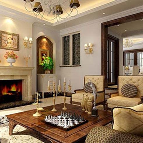 潮流空间集成墙饰-欧式客厅图片