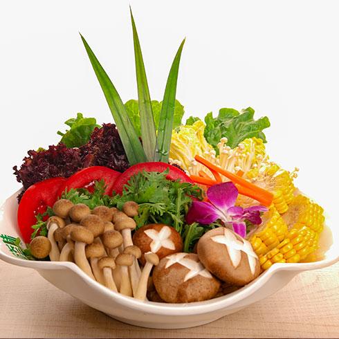食叁味火锅-菌类蔬菜