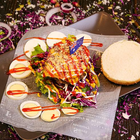 蜜特蜜思汉堡-英式乡村火腿牛肉堡