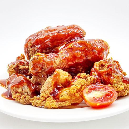 喔鸡喔鸡美味鸡排-酥脆番茄炸鸡