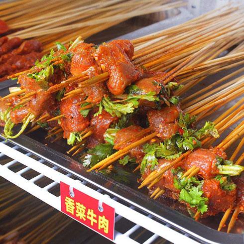 郭小七串串香-香菜牛肉串