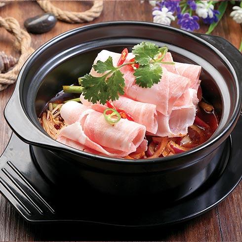 虾得乐烧汁虾米饭-肉片麻辣饭