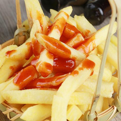 痴馍肉夹馍-番茄土豆条