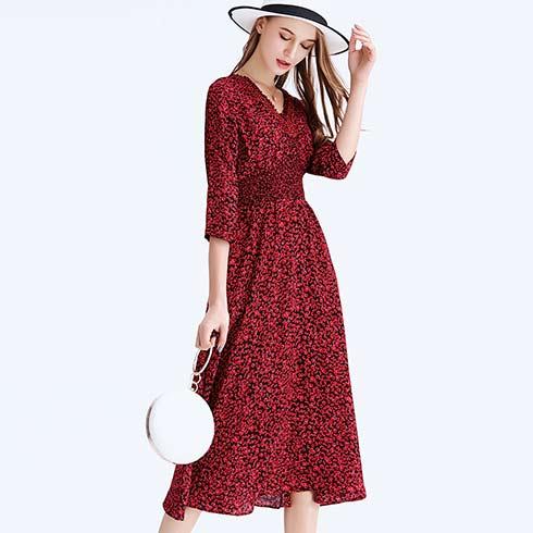 艾米女装-长袖连衣裙