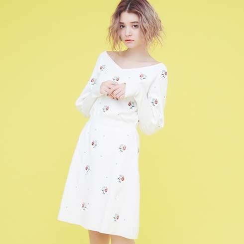 艾米女装-一字肩连衣裙