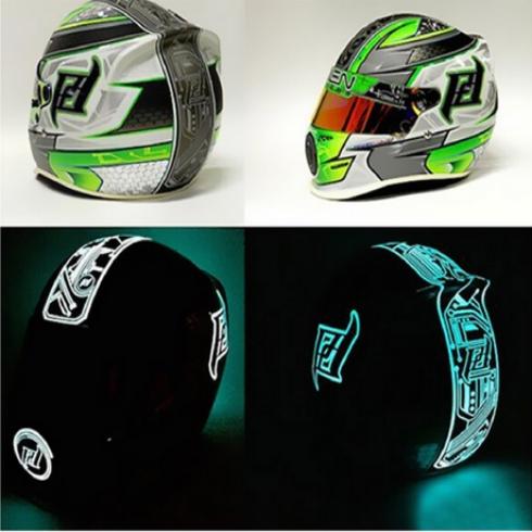 萤火虫-头盔电光涂装