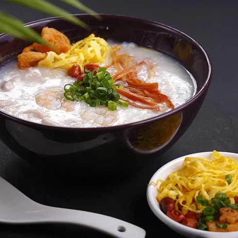 锅得缸坛子焖肉-虾仁粥