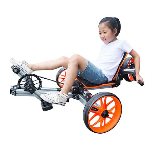 哆啦精灵百变童车-背骑三轮车