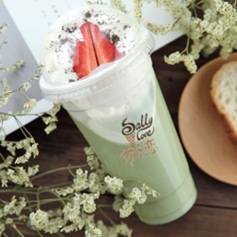 莎之恋冰淇淋-草莓奶盖果饮