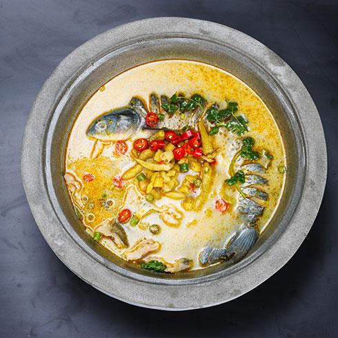 壹锅蒸能量蒸汽石锅鱼-鲜嫩营养鱼汤