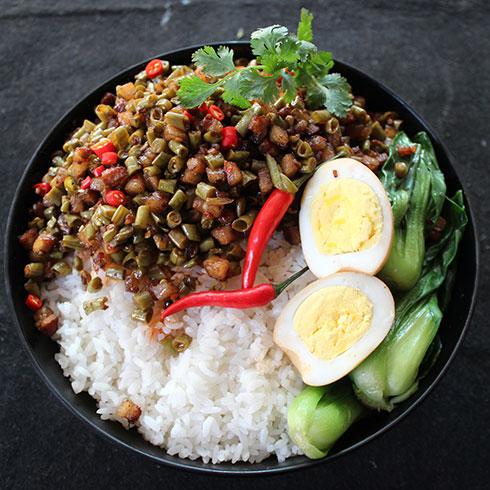 馋二坛小锅米线-台式卤肉饭