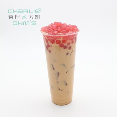 茶理&欧姆-石榴椰果奶茶