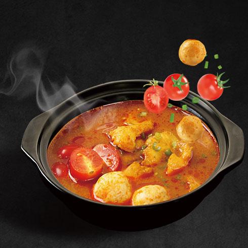 蓉姐钵钵鱼-番茄肉丸味