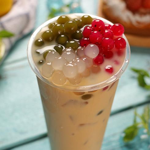 府莱喜饮品-三色珍珠奶茶