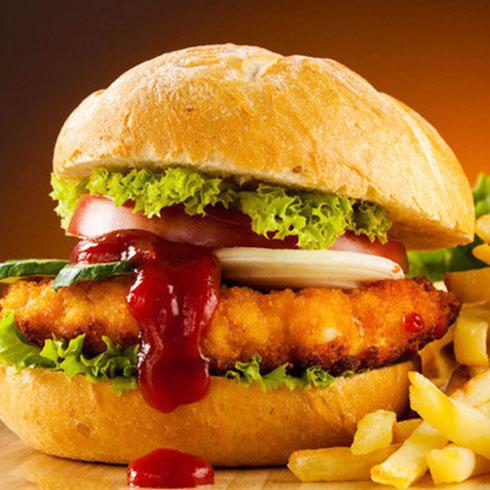 麦勒士西式快餐-鸡肉汉堡