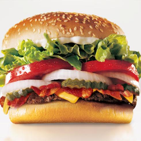 麦勒士西式快餐-芝士培根汉堡