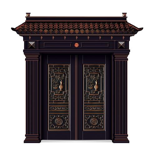 弘宇智能门窗-铜木门