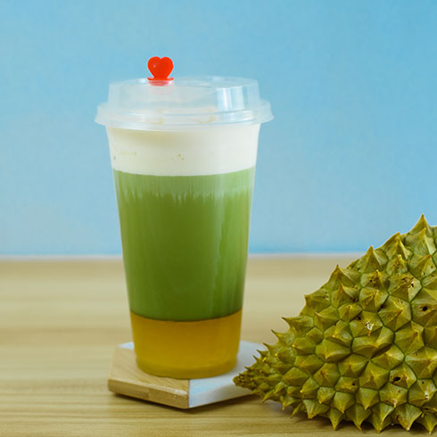 多喜丸茶-抹茶榴莲奶盖