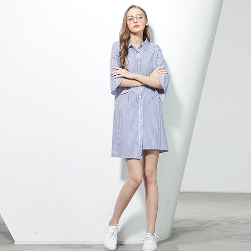 佰莉衣橱女装-衬衫式连衣裙