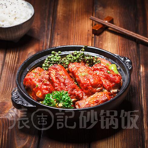 张吉记砂锅饭-红烧排骨饭