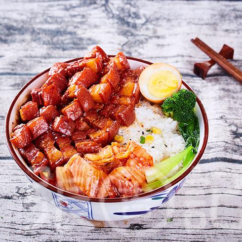 张吉记砂锅饭-泡菜红烧肉饭
