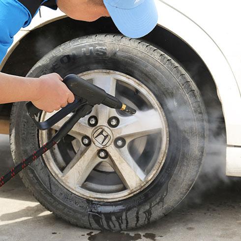 瓦特先生蒸汽洗车-洗车轮图