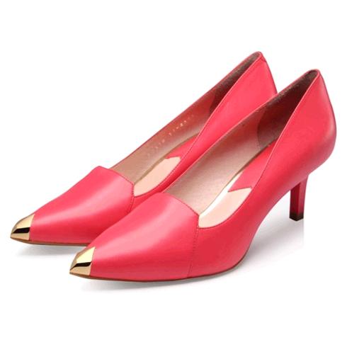 比爱靓点女鞋-尖头细高跟鞋