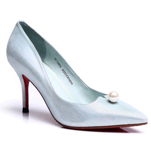 比爱靓点女鞋-尖头细跟公主水晶鞋