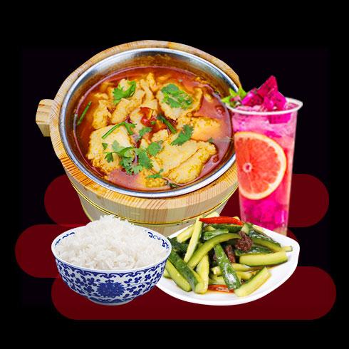 鲜辣鱼生酸菜鱼米饭-原味木桶鱼饭