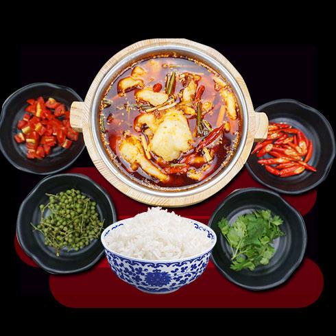 鲜辣鱼生酸菜鱼米饭-藤椒鱼套餐