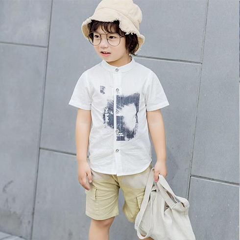 童话旋律童装-短袖衬衫男童装