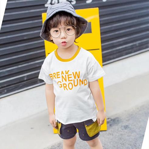童话旋律童装-休闲字母T恤