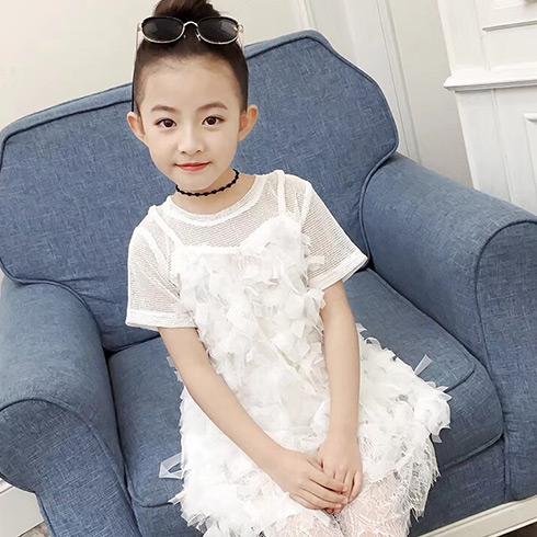 童话旋律童装-透视镂空仙女裙