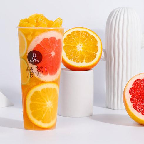 悟茶茶饮-西柚柑橘茶