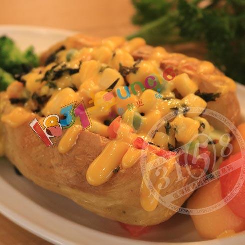 1831土豆Uncle小吃-蔬菜芝士皮夹克