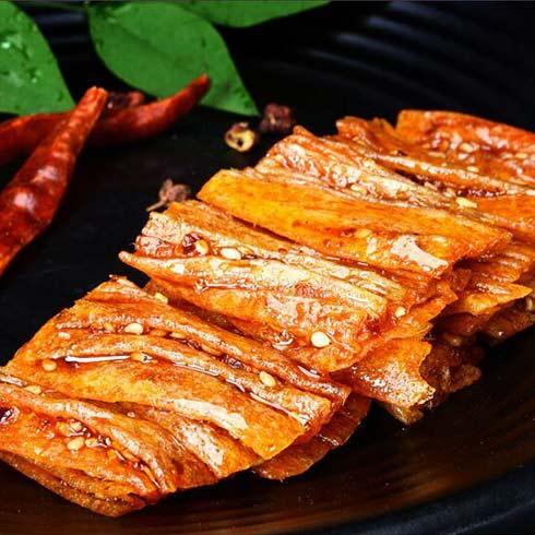 绿源谷零食小铺-豆皮辣片
