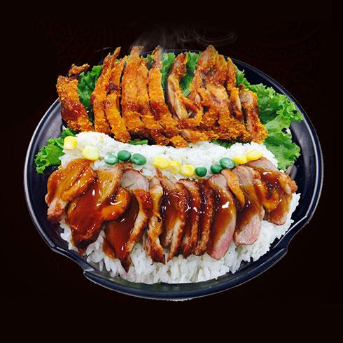鸭迷鸭蜜泰式烤鸭饭-豪华双拼套餐