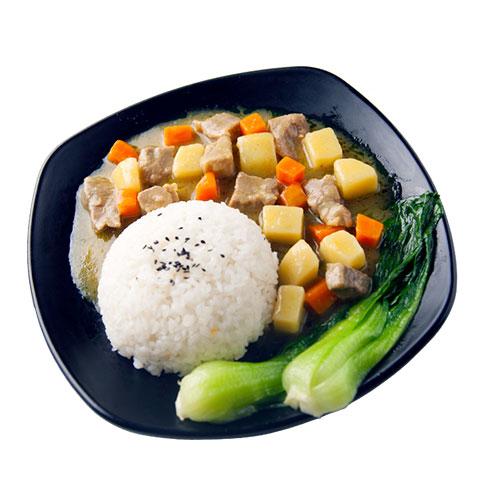 鸭迷鸭蜜泰式烤鸭饭-帕能咖喱鸡肉饭